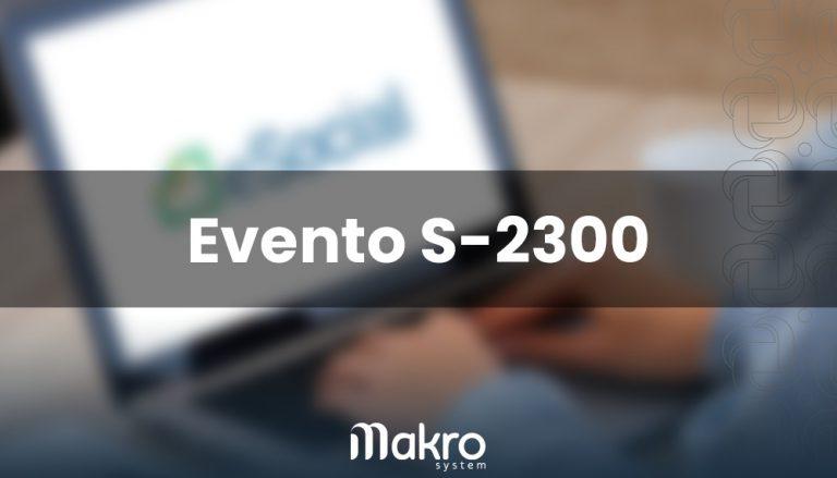 Evento S-2300